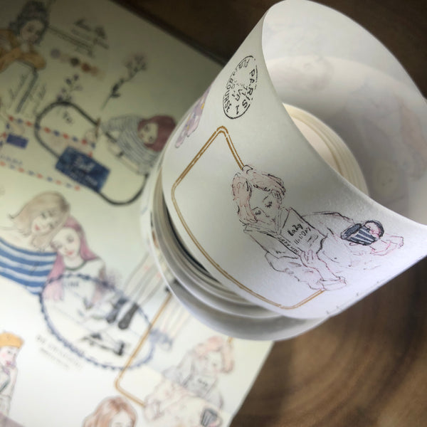 Pion Washi Tape, Label | Pion紙膠帶, 女孩標籤