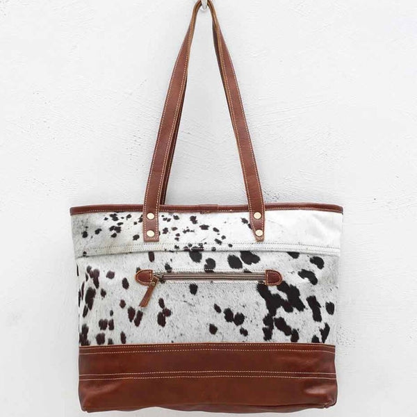 Cow Hide and Leather bag