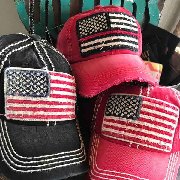 American Flag / Back the Blue hats