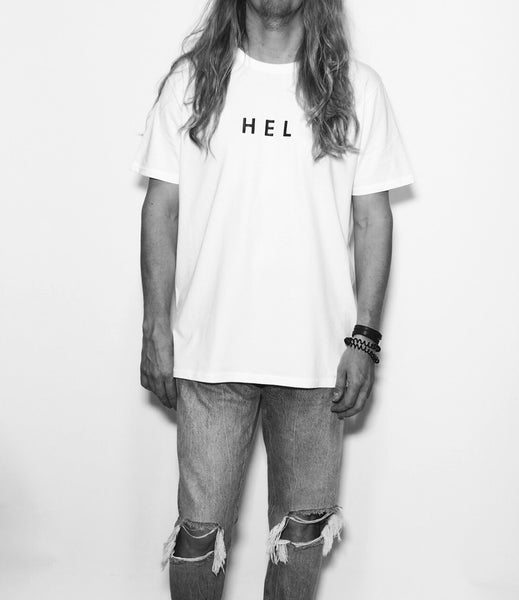 HEL N° 16 | White Tee | 100% Organic Cotton
