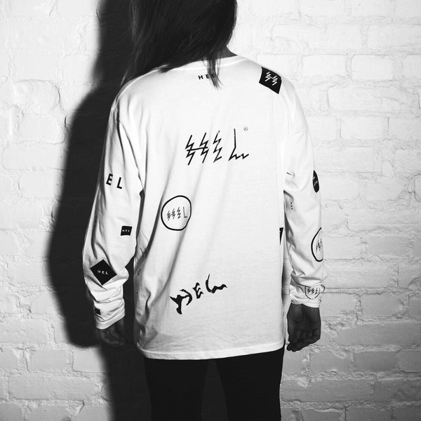 HEL N° 13 | White Long Sleeve | 100% Organic Cotton