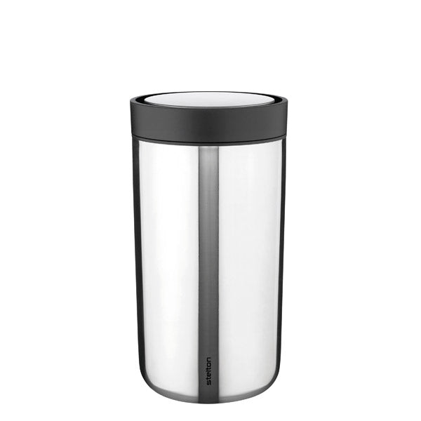 Stelton Reusable BPA Free Cup Steel Small UK