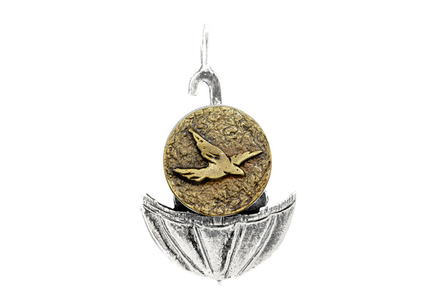 Bird Flying Umbrella Medallion of Israel