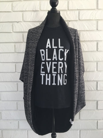 All Black Everything Tee Shirt - Nickel and Birch