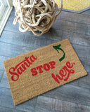 Santa Holiday Doormat - Nickel and Birch
