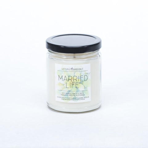 Married Life Candle - Nickel and Birch