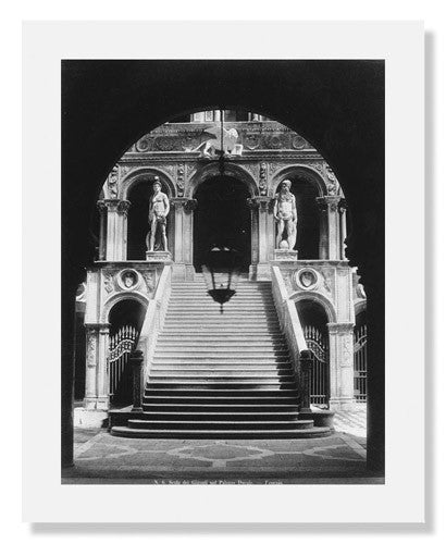 MFA Prints archival replica print of Carlo Ponti, The Stairway of the Giants at the Ducal Palace, Venice from the Museum of Fine Arts, Boston collection.