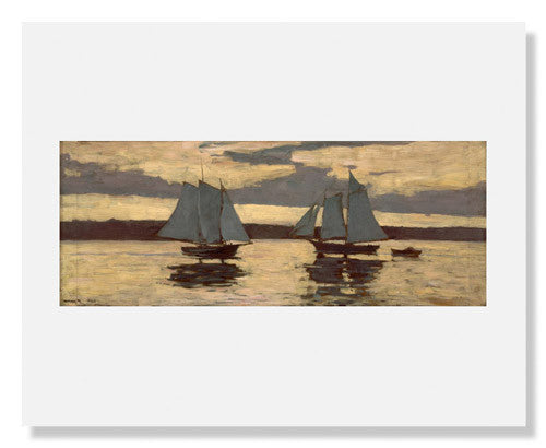 MFA Prints archival replica print of Winslow Homer, Gloucester, Mackerel Fleet at Sunset from the Museum of Fine Arts, Boston collection.