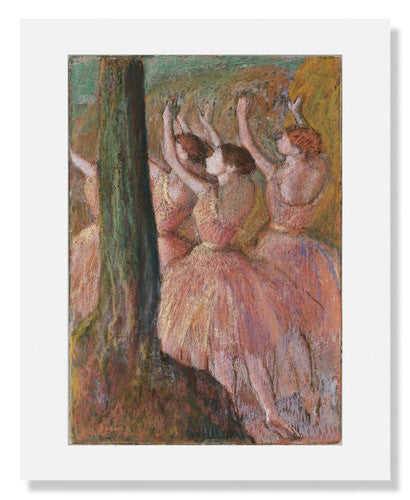 MFA Prints archival replica print of Edgar Degas, Dancers in Rose from the Museum of Fine Arts, Boston collection.