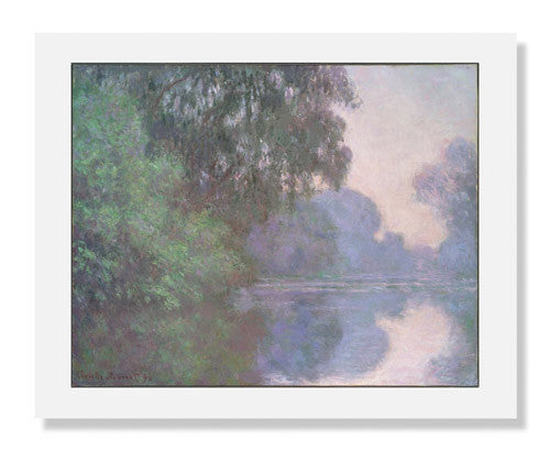 MFA Prints archival replica print of Claude Monet, Morning on the Seine, near Giverny from the Museum of Fine Arts, Boston collection.
