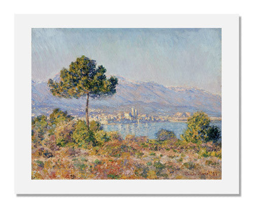 MFA Prints archival replica print of Claude Monet, Antibes Seen from the Plateau Notre Dame from the Museum of Fine Arts, Boston collection.