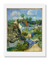 MFA Prints archival replica print of Vincent van Gogh, Houses at Auvers from the Museum of Fine Arts, Boston collection.