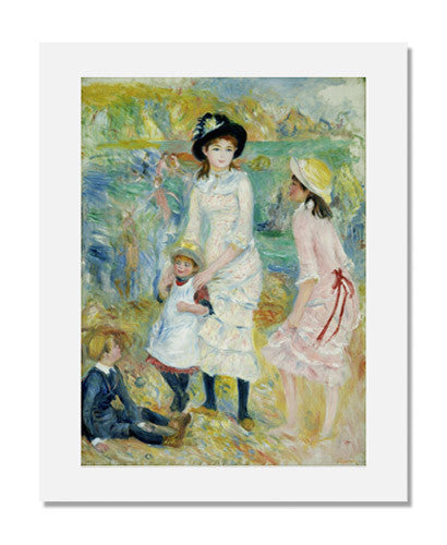 MFA Prints archival replica print of Pierre Auguste Renoir, Children on the Seashore, Guernsey from the Museum of Fine Arts, Boston collection.