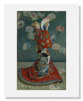 MFA Prints archival replica print of Claude Monet, La Japonaise from the Museum of Fine Arts, Boston collection.