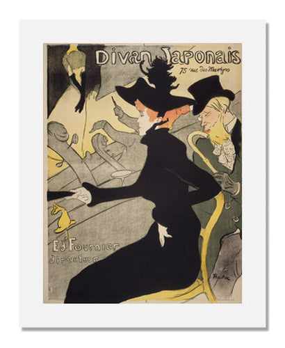 MFA Prints archival replica print of Henri de Toulouse Lautrec, Divan Japonais from the Museum of Fine Arts, Boston collection.
