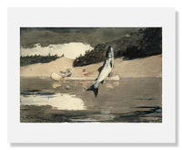 MFA Prints archival replica print of Winslow Homer, Ouananiche Fishing from the Museum of Fine Arts, Boston collection.