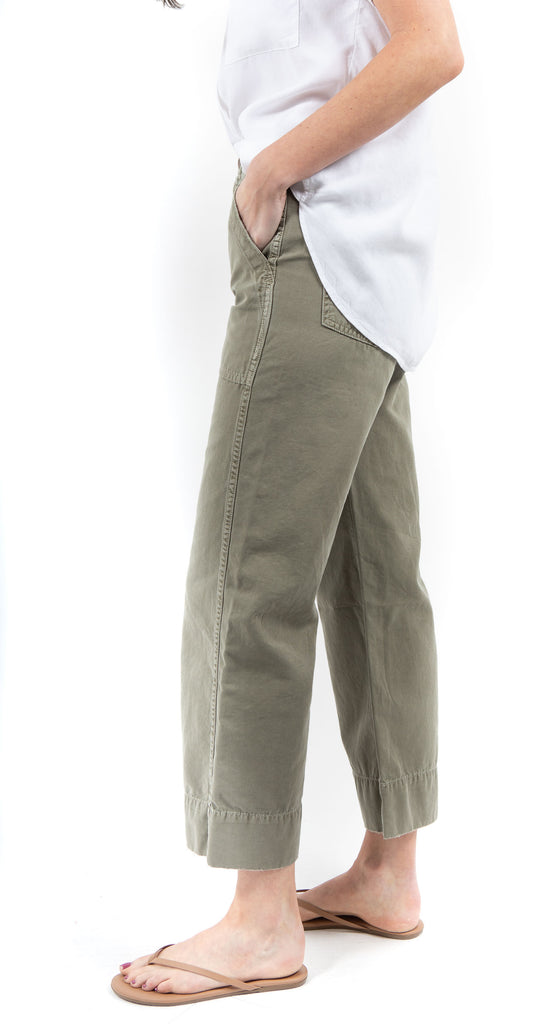Army Wide Leg Gray Green