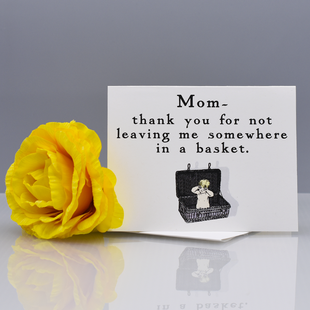 In a Basket Thank You Card for Mom