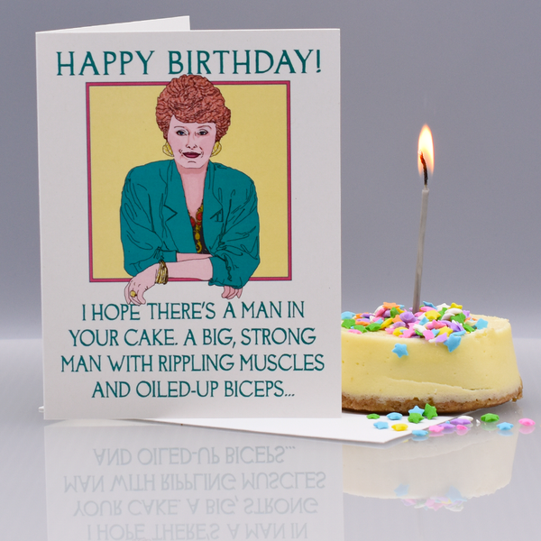 A Blanche-y Birthday Card