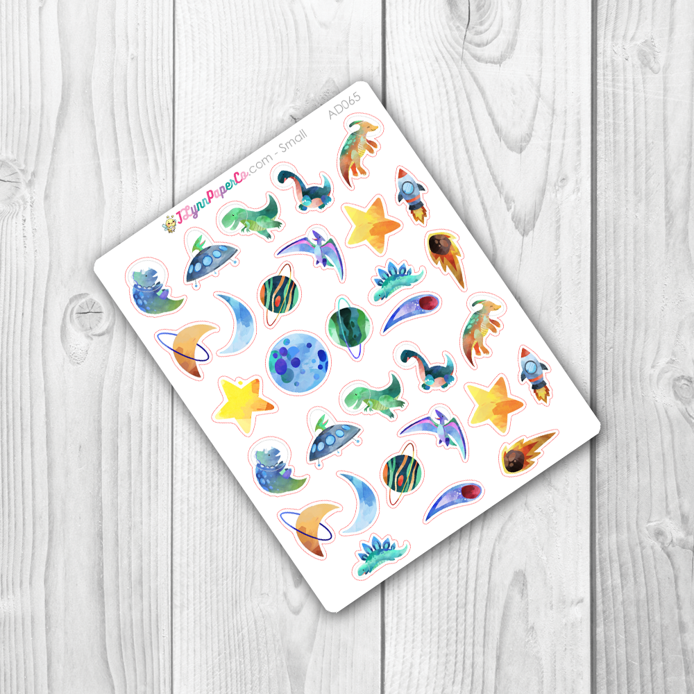 Space Dino Stickers | AD065