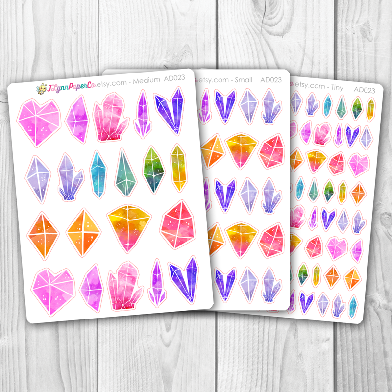 Pastel Crystal Stickers | AD023