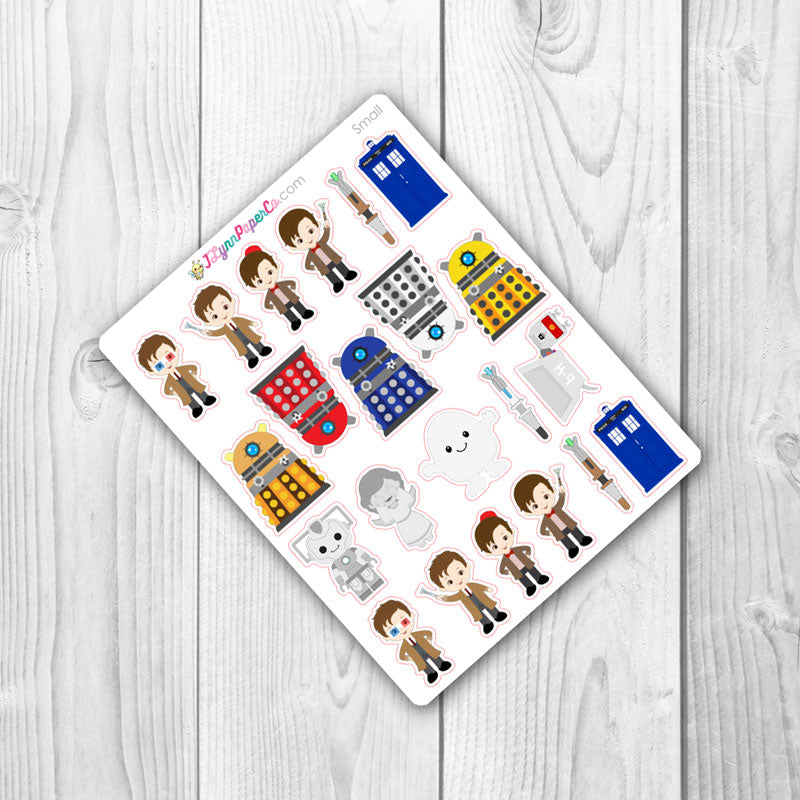 Dr Who Character Stickers