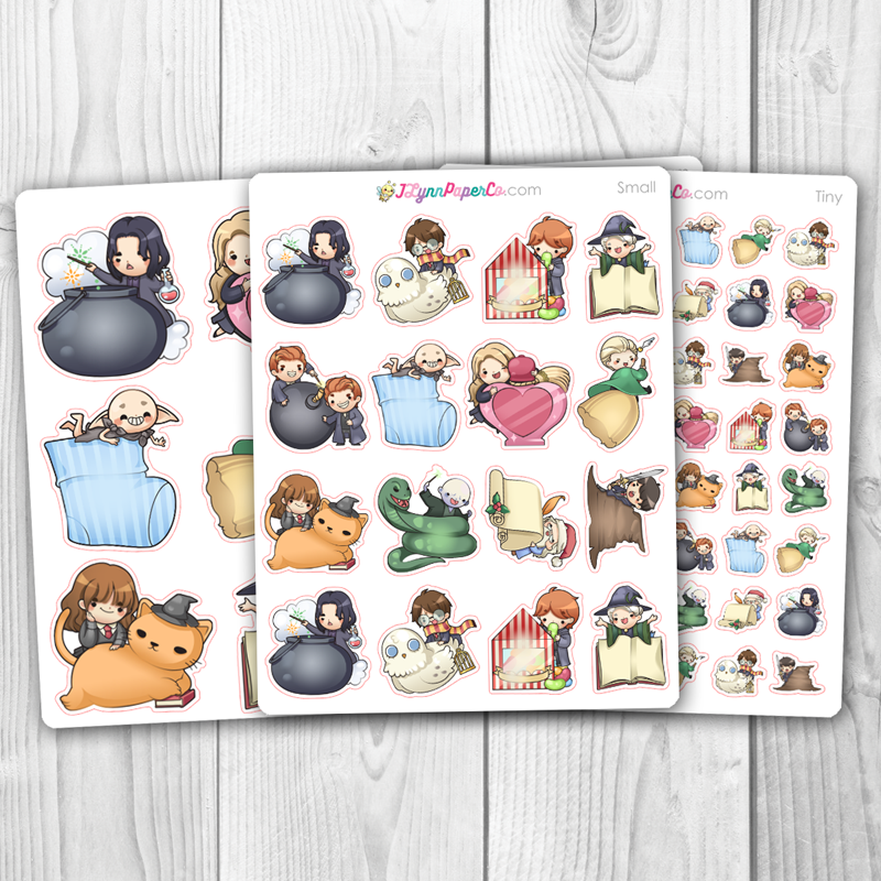Wizards set 7 Character Stickers