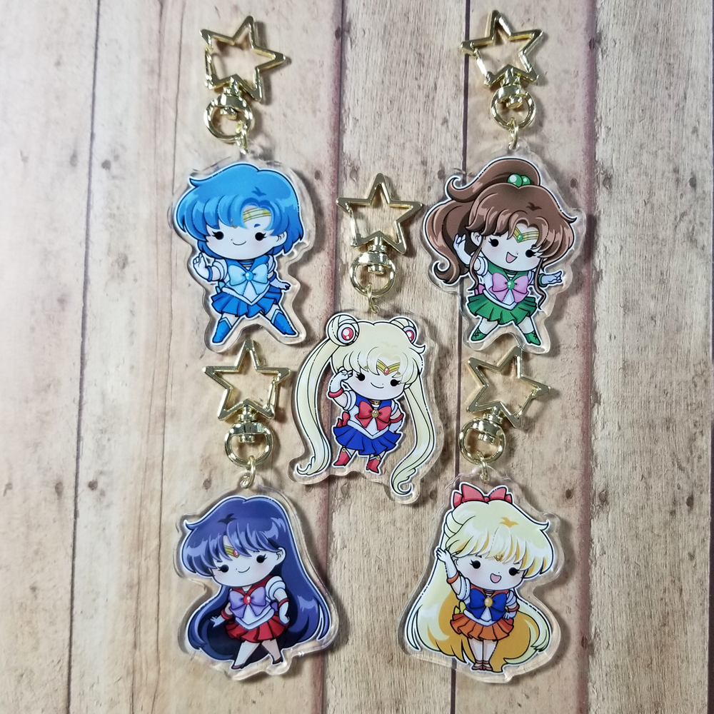 Sailor Scout Charms