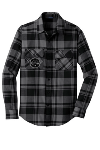 Black & Grey Patch Flannel