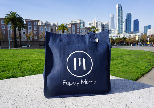 Navy Blue econscious Stylish Puppy Mama Tote Bag