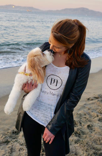 White Puppy Mama Tank Top - Style for Dog Moms!
