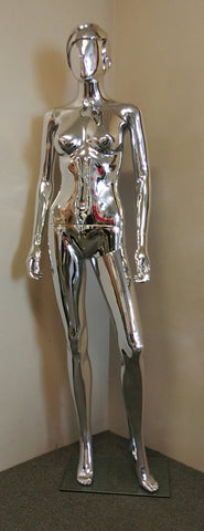 Chrome Coloured Mannequin