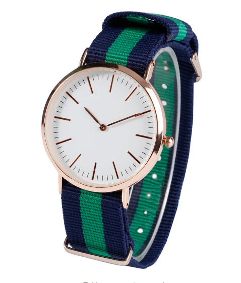 Women Military Sport Nylon Stripe Band Wristwatch-Offer!