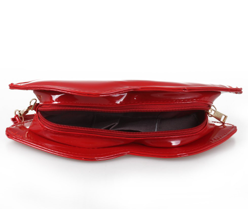 Big Lip Pu Leather Clutches Women Messenger Evening Bag-Offer!!!