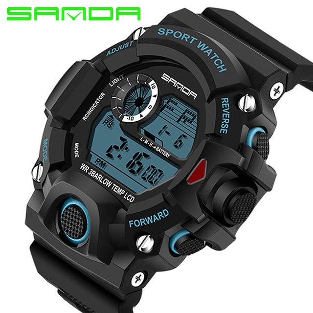 2018 Digital Diving Sport LED Waterproof Geneva Military Watches!