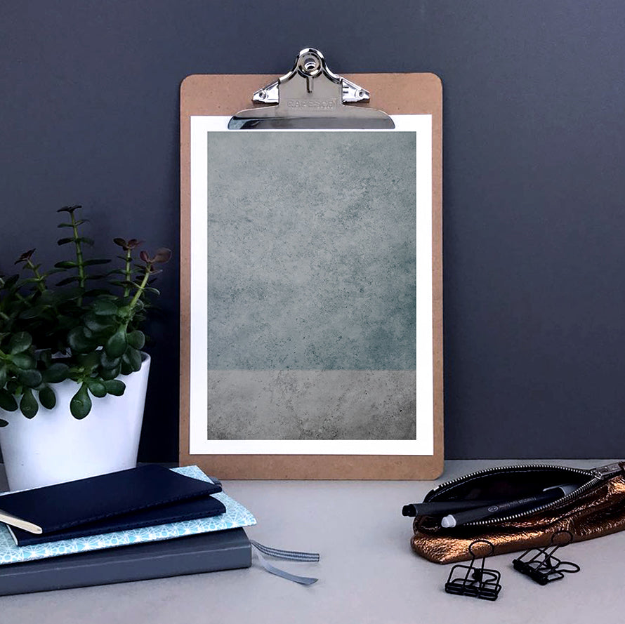 Blue and grey two-toned abstract concrete print