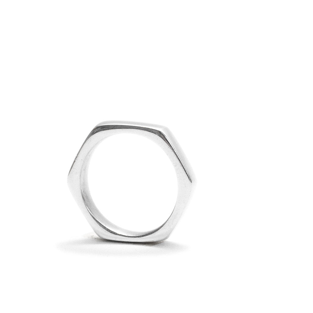 Signature Hexagon Aluminium Ring