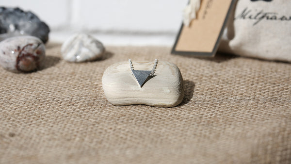 Stainless Steel Triangle Necklace + Canvas Gift Bag - Mitpaw