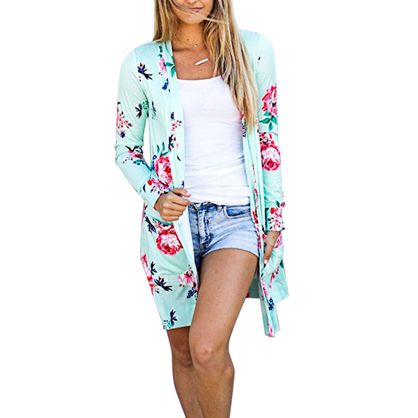 Floral Long Sleeve Cardigan