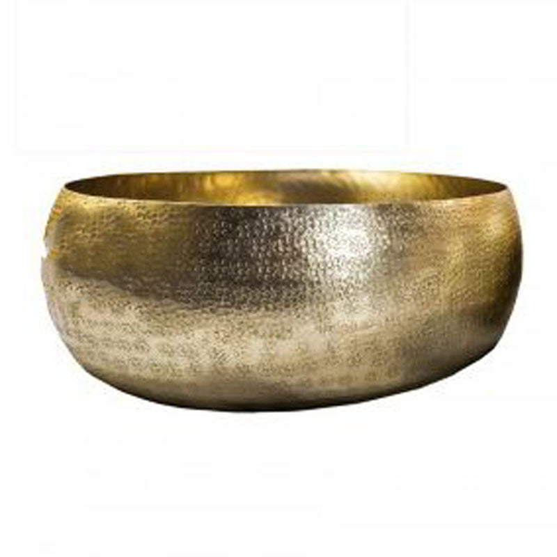Gold Hammered Metallic Bowl 27cm - The Chic Nest