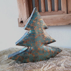 Teal/Gold Deco Christmas Tree - Large
