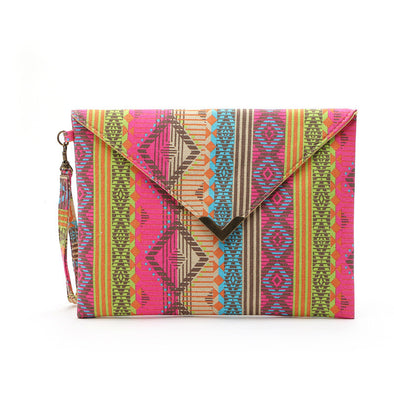 Boho Totem Printing Canvas Wristlet bag - Hippie BLiss