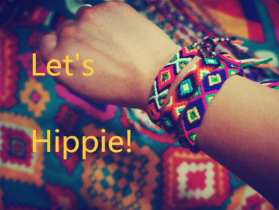 Charm Woven Rope String Hippy Boho Embroidery Cotton Friendship Bracelets - Hippie BLiss