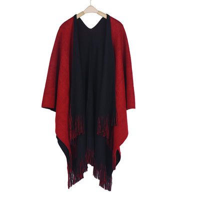 Throw on Scarf Sweater Cape