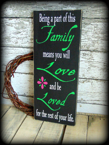 Being A Part Of This Family, Housewarming Gift, Handmade Wooden Sign, New Home, Country Rustic Wall Decor