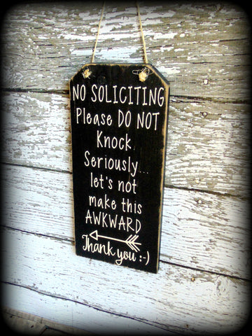 Funny Front Door Sign, No Soliciting Sign, Custom Wooden Sign, Housewarming Gift
