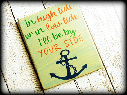 Nautical Theme Decor Beach Sign Anchor Wall Art