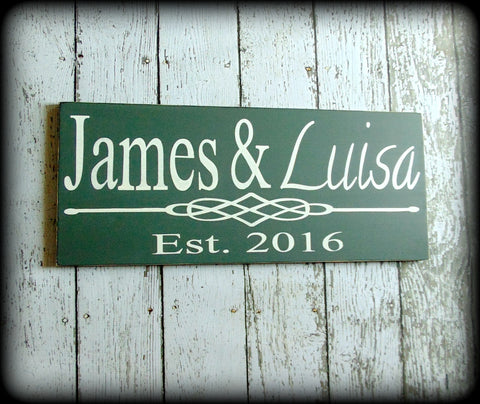 Personalized Bridal Shower Gift Wedding Couple Sign