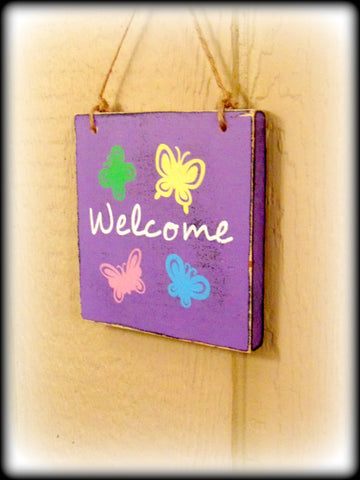 Spring Home Decor, Front Door Sign, Welcome Spring, Housewarming Gift