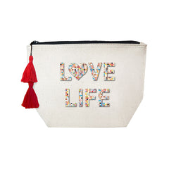 LOVE LIFE - Confetti Cosmetic Case